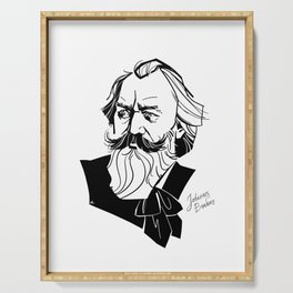 Johannes Brahms Serving Tray