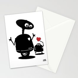 Robot Heart to Heart Stationery Cards