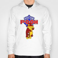 pooh Hoodies featuring Doctor Pooh by cû3ik designs