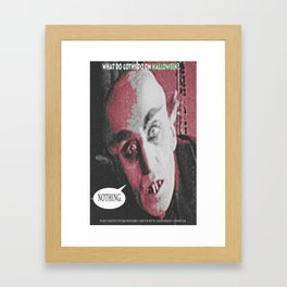 "'Count Orlock, the Vampire #2' from "" Nosferatu vs. Father Pipecock & Sister Funk (2014)"" Framed Art Print"
