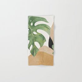 Abstract Art Tropical Leaves 3 Hand & Bath Towel