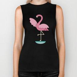 Flamingo in the Ocean Biker Tank
