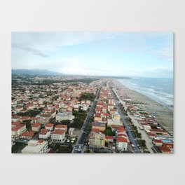 From above the Tuscan coastline Canvas Print