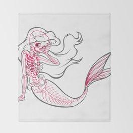 Little Mermaid Xray Throw Blanket