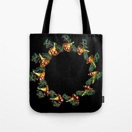 Fractal Christmas Wreath Tote Bag