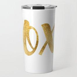 Romantic lettering xoxo Travel Mug