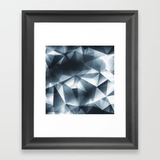 Abstract Cubizm Charcoal Drawing Framed Art Print