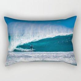 Surfing Pipe Rectangular Pillow
