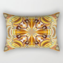 A touch of Autumn, fractal abstract in fall colors Rectangular Pillow