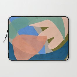 Shapes and Layers no.30 - Large Organic Shapes Blue Pink Green Gray Laptop Sleeve