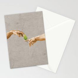 scritching a budgerigar #full Stationery Cards