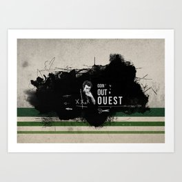 Goin' Out Ouest Art Print