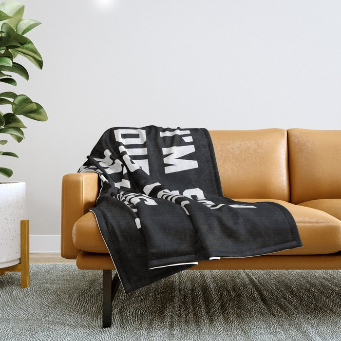 Roll My Eyes Funny Quote Throw Blanket