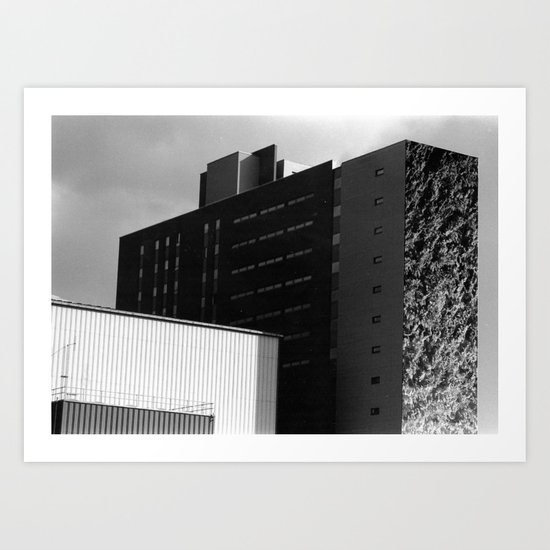 Building with a Bush Art Print