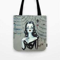 Vampira Black Widow Valentine Tote Bag