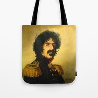 replaceface Tote Bags featuring Frank Zappa - replaceface by replaceface