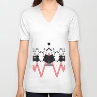 rorschach V-neck T-shirts featuring Rorschach by Isaak_Rodriguez