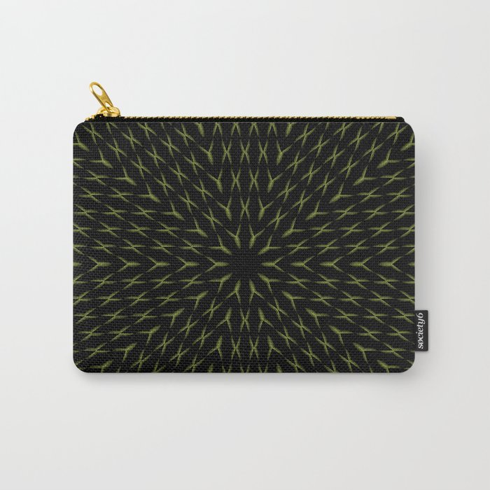PCT2 Fractal in Yellow on Black Carry-All Pouch