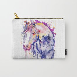 Horse Head Watercolor Portrait Carry-All Pouch