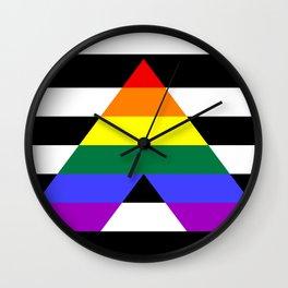 Straight Ally flag Wall Clock