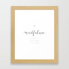 mindfulness Framed Art Print