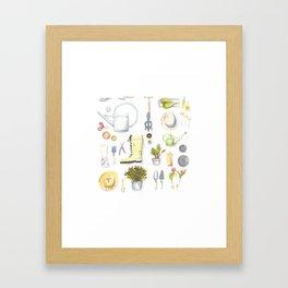 Gardening Tools Framed Art Print