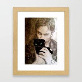 Gazing Framed Art Print