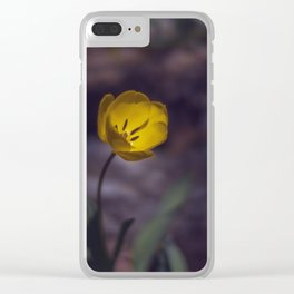 Yellow Tulip in The Forest Clear iPhone Case