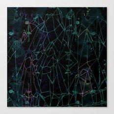 Crystal peak Canvas Print