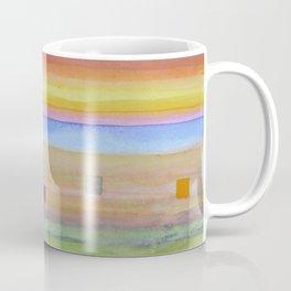 Romantic Landscape combined with Geometric Elements Coffee Mug