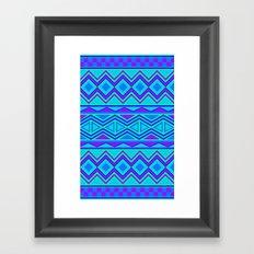 Tribal Pattern (blue & purple) Framed Art Print