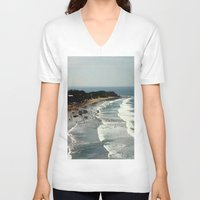 rowing V-neck T-shirts featuring Torquay Heads - Rowing Regatta - Australia by Chris' Landscape Images & Designs