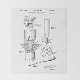 Phillips Screwdriver: Henry F. Phillips Screwdriver Patent Throw Blanket