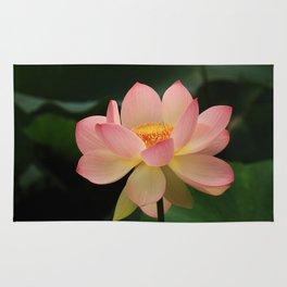 Peaceful Zen Garden Pink Lotus Floral Rug