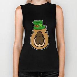 Leprechaun Capybara - St. Patricks Day Biker Tank