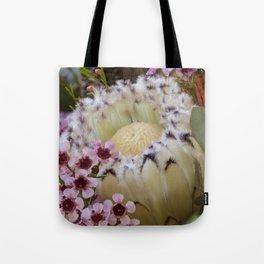 Beautiful Feather Protea Tote Bag
