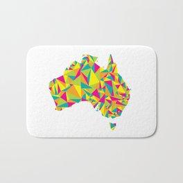 Abstract Australia Bright Earth Bath Mat