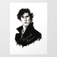 sherlock holmes Art Prints featuring Sherlock Holmes by StarshipRanger