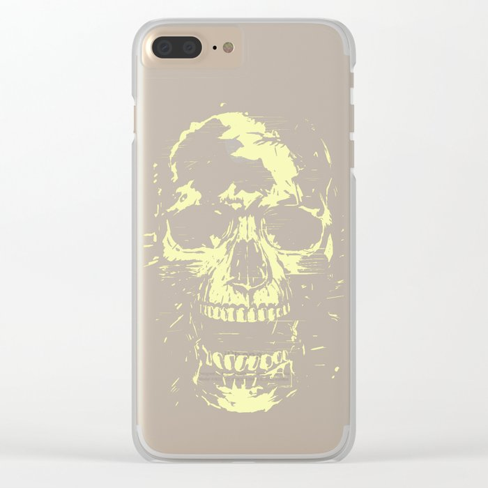 Scream (gold) Clear iPhone Case