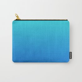 Tortuga - deep blue sea ombre painting abstract decor Carry-All Pouch