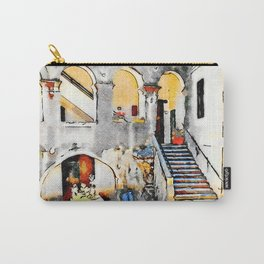 Tortora: courtyard with open gallery Carry-All Pouch