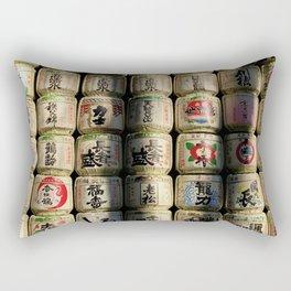 Japanese Sake Barrels Rectangular Pillow