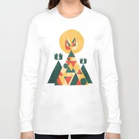 sunset Long Sleeve T-shirts featuring Sunset Tipi by Picomodi