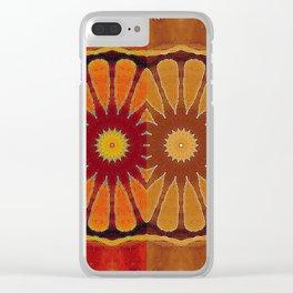 Orange flower pattern daisy Clear iPhone Case