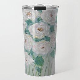 Send Me White Roses Travel Mug
