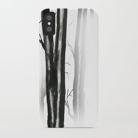 wood, snow and fog iPhone Case