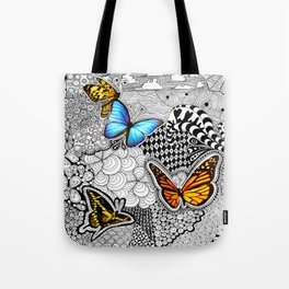 Tangled Butterfly Tote Bag