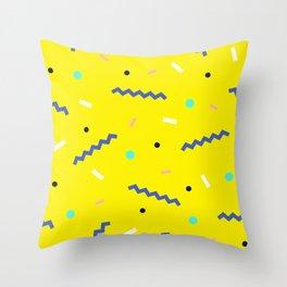 Memphis pattern 56 Throw Pillow
