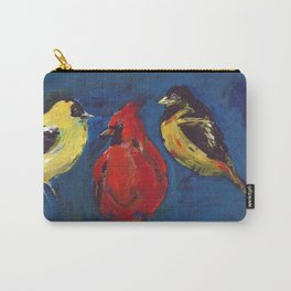 Shadow Bird (Cardinal, Goldfinches, and ?) Carry-All Pouch