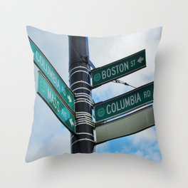 Mass Avenue and Columbia Road Throw Pillow
